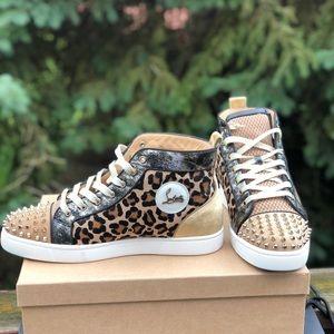 ad2874a0d224 Christian Louboutin Shoes - Christian Louboutin Lou Spikes Loubi Kraft 43.5